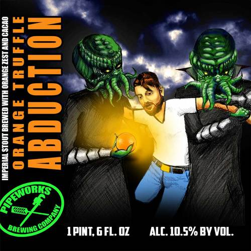 Orange Truffle Abduction Label