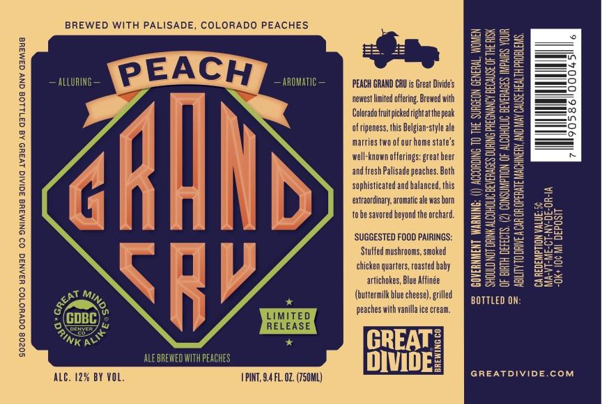 Peach Grand Cru Label