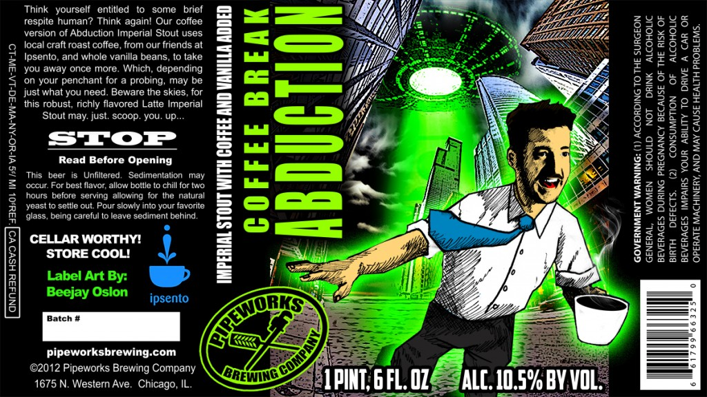 Pipeworks Coffee Break Abduction Label