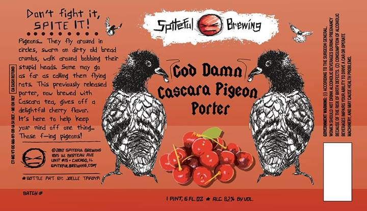 God Damn Cascara Pigeon Porter Label