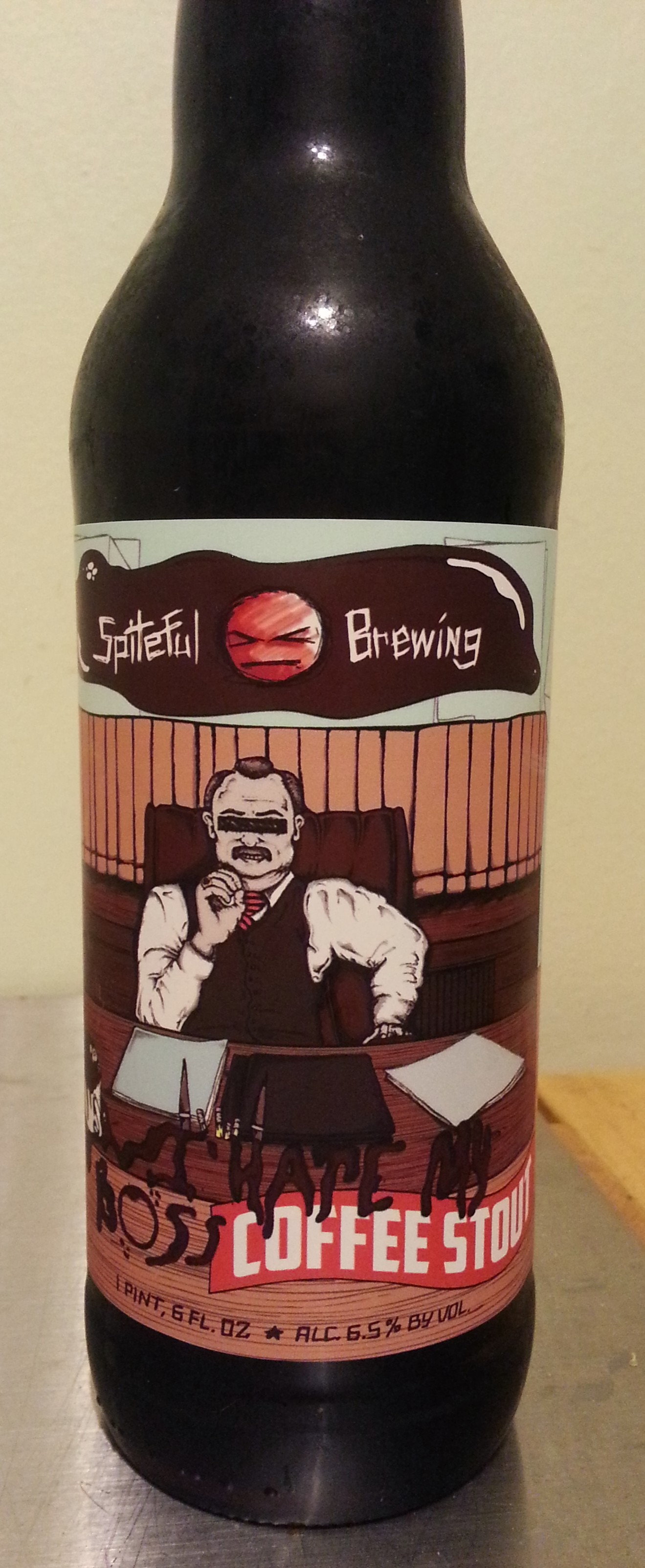 I Hate My Boss Coffee Stout Label
